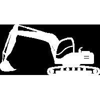 White Backhoe Icon